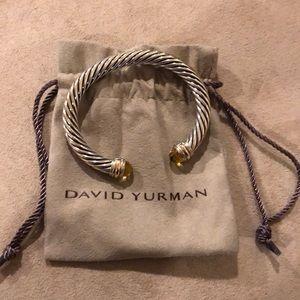 David Yurman Cable Classic 14k Gold Lemon Citrine